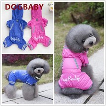 Pet Dog Clothes Jumpsuit With Hat  Rainy Day Waterproof Coat - $15.99