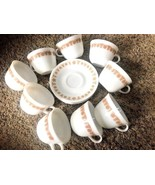 9 Vintage Pyrex Corning Butterfly Gold Coffee Tea Beverage Cups Corelle ... - $21.77