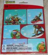 Teenage Mutant Ninja Turtles TMNT Christmas Self-Stick Gift Tag Stickers xMas - $5.50