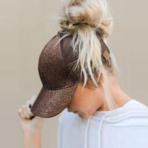 2018 CC Glitter Ponytail Baseball Cap Snapback Summer Hats Adjustable Sp... - $4.98