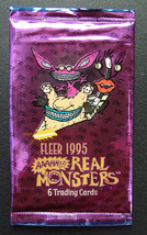 1995 Real Monsters Unopened Trading Card Pack by Fleer - $1.50