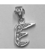 """Sterling Silver & Cubic Zirconia Initial Pendant """"E"""" - $28.00"""