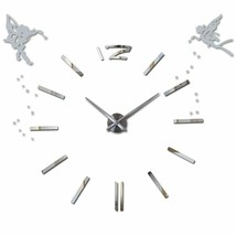 3D DIY Modern Large Wall Clock Angels Oversized Stylish Gift Acrylic Hom... - $35.79