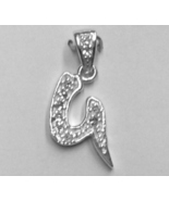 """Sterling Silver & Cubic Zirconia Initial Pendant """"G"""" - $28.00"""