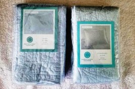 Martha Stewart Damask Trace One Quilted Pillow Sham, Sizes Vary - New/Se... - $25.72+