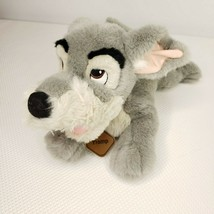 "Disney Store Lady & Tramp Plush 14"" Beanbag Pup Dog Stuffed Animal Bean ... - $29.65"