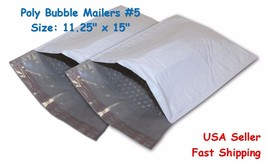 Size:#5 11.25 x 15 Poly Bubble Mailer Padded Shipping Envelope Self Seal... - $9.09+