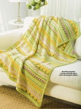 Z539 Crochet PATTERN ONLY Another Spring Flowers Afghan Throw Pattern - $7.50