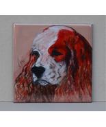 Cocker Spaniel Dog Art Tile Coaster Solomon - $14.00