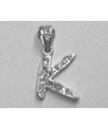 """Sterling Silver & Cubic Zirconia Initial Pendant """"K"""" - $28.00"""