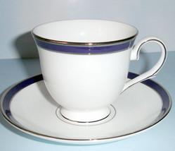 Lenox Federal Cobalt Platinum Tea Cup & Saucer New - $29.90