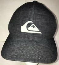 Quiksilver Mens Hat OSFM Gray Flexfit Baseball Cap Skater Surfer Snowboa... - $18.61