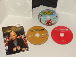 Nintendo Wii  World of Zoo Disk Only Indianapolis 500 Legends Deal or No deal image 4