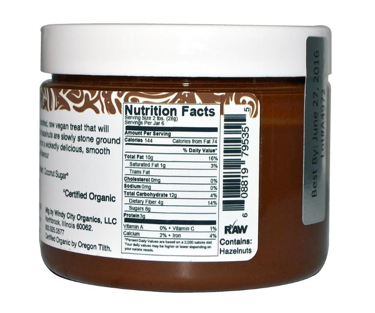 Keto snacks: Rawmio low carb Chocolate Hazelnut Spread, 6 oz (8 net carbs)