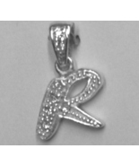 """Sterling Silver & Cubic Zirconia Initial Pendant """"R"""" - $28.00"""