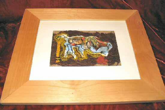 Abstract Framed Matted Mixed Media Print Nyugen E. Smith