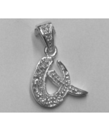 """Sterling Silver & Cubic Zirconia Initial Pendant """"Q"""" - $28.00"""