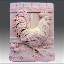 Beautiful Hen - Detail of high relief sculpture, silicone Soap/polymer/clay mold - $37.24