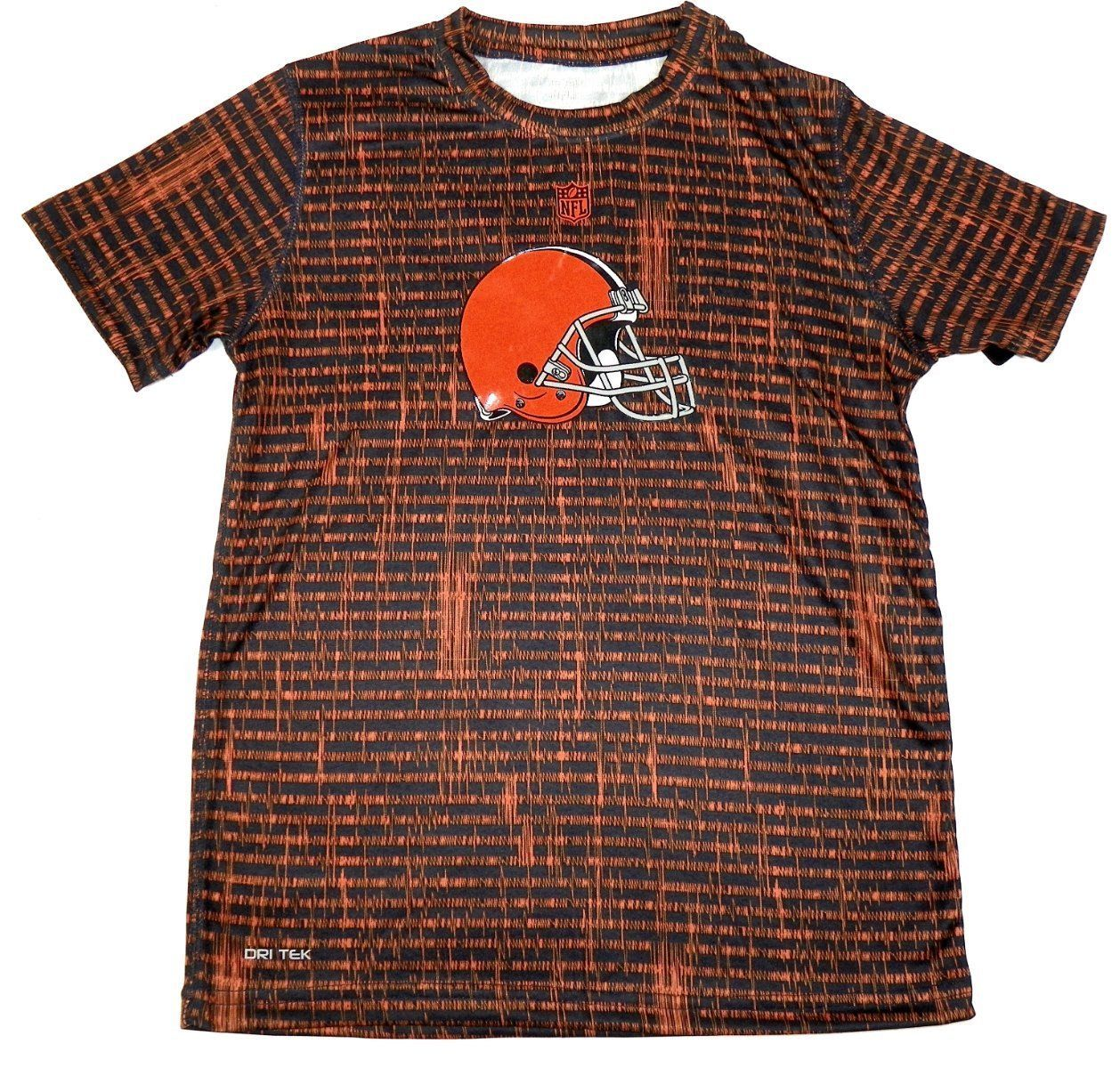 Cleveland Browns Boy's 8-18 Shirt NFL Resounding Short Sleeve Dri Tek Tee