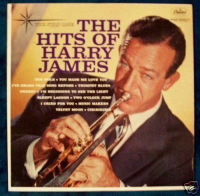 """ THE HITS OF HARRY JAMES "" Vintage Jazz LP"