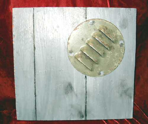 Oil Abstract Painting Sculpture Wood siding Nyugen E. Smith