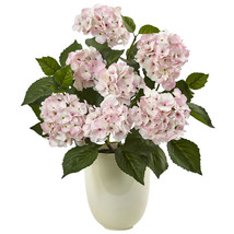 Hydrangea with White Planter - $79.47
