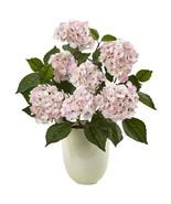 Hydrangea with White Planter - $79.47