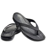Crocs Swiftwater Black Flip Flops for Women Sz 10 M - $28.00