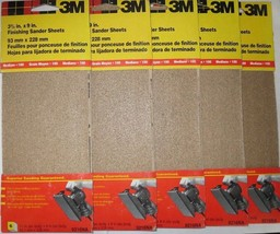 "3M 3-2/3"" x 9"" Finishing Sander Sheets 9216NA 5 Packs - $7.43"