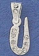 "Sterling Silver & Cubic Zirconia Initial Pendant ""U"""