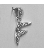 """Sterling Silver & Cubic Zirconia Initial Pendant """"F"""" - $28.00"""