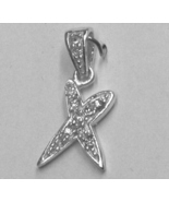 """Sterling Silver & Cubic Zirconia Initial Pendant """"X"""" - $28.00"""