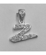 """Sterling Silver & Cubic Zirconia Initial Pendant """"Z"""" - $28.00"""