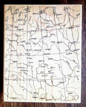 Huge Vintage Antique Maps Background  Details Grid Lines  Hero Arts Rubber Stamp - $21.73