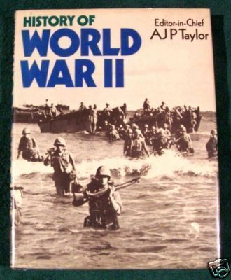 HISTORY OF WORLD WAR II Folio-sized pictoral HC/DJ