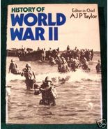 HISTORY OF WORLD WAR II Folio-sized pictoral HC/DJ - $15.00