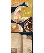 ELEGANT DESSERTS 1955 Cook Book - $5.00