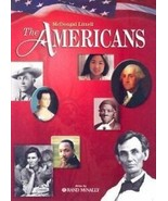 The Americans With Atlas by Rand McNally Hight School Textbook Hardcover - $9.89