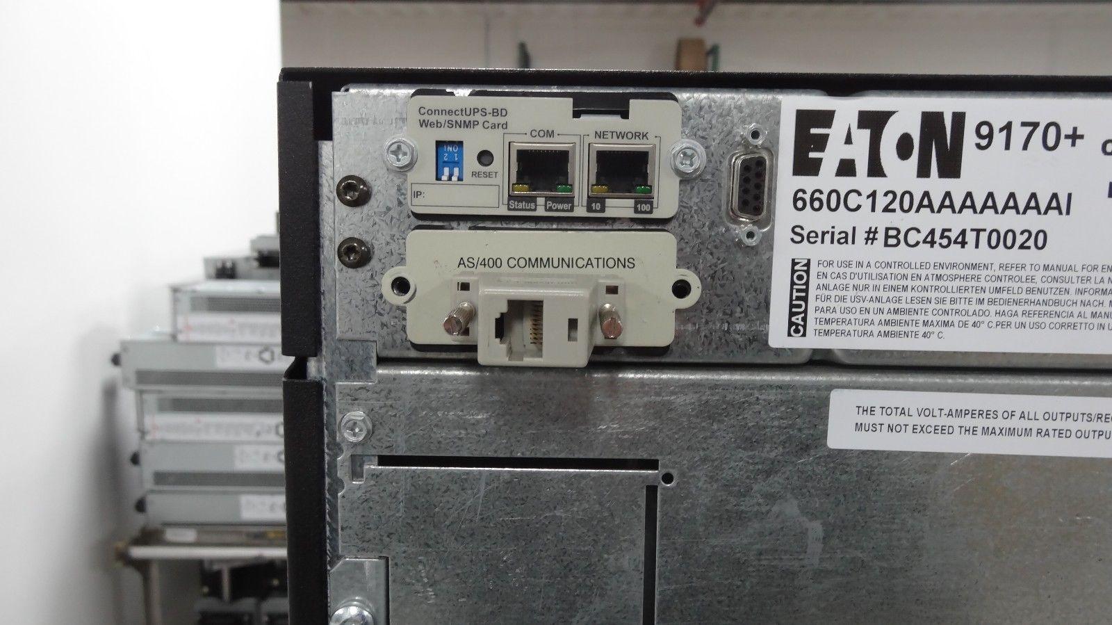 2009 Eaton 9170+ PW12S9K-PD 9KVA Expandable and 50 similar items on