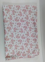 Amy Coe Baby Blanket Alphabet Soup White w Pink Birds Flowers Girl B239 - $26.14 CAD