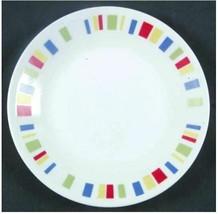 """Corelle MEMPHIS Color Block Set of 6 Bread & Butter Dessert 6-3/4"""" Plates - $27.10"""