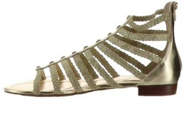 Marc Fisher Braided Gladiator Sandals Pepita Gold 7.5M NEW A305395 - $69.28