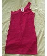 Forever 21 Hot Pink Short Length Dress Junior Size Medium NWT