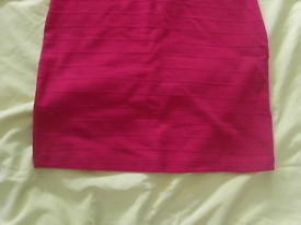 Forever 21 Hot Pink Short Length Dress Junior Size Medium NWT