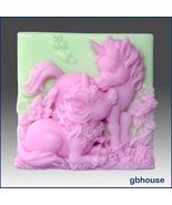 Silicone Soap Mold – Altair and Cintara- Unicorn Ponie - $28.00
