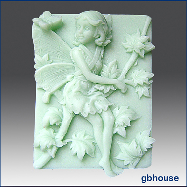 2D Silicone Soap Mold–Melinda, Fairy of the Maple Tree
