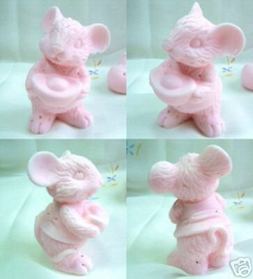 3D Lucky, Wealthy Mouse- Silicone Soap /candle Mold