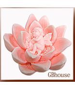 Silicone soap mold - Candle mold - Fairy Child and Lotus - $28.00