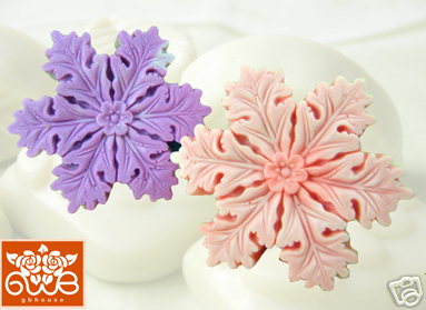 Silicone Soap / Floating candle mold - snowflake