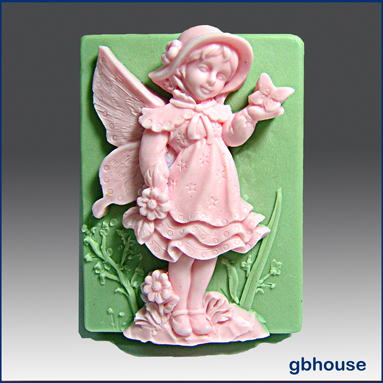 Silicone Soap Mold - Mariposa Fairy of butterflies